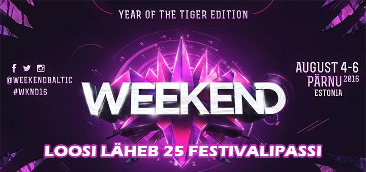 Triobet loosib välja 25 Weekend Festival 2016 festivalipassi