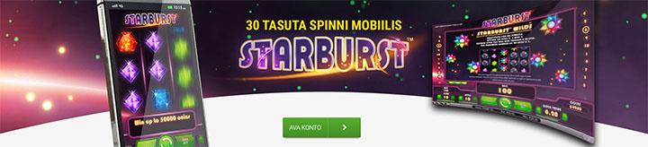 Triobet uue mängija boonus - 30 tasuta spinni ja 150-eurone kasiino boonus