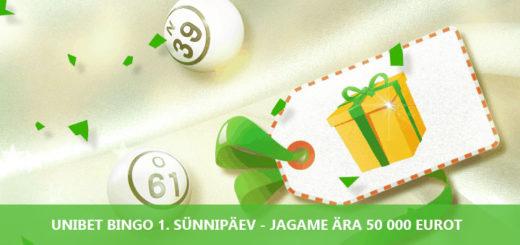 Unibet Bingo esimene sünnipäev - jagame ära 50 000 eurot