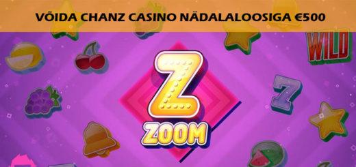 Chanz Casino nädalaloos - võida 500 eurot ja tasuta spinnid