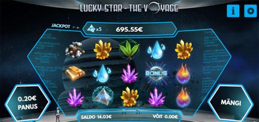 Lucky Star The Voyage - Garanteeritud pärisraha võit kõigile mängu avajatele