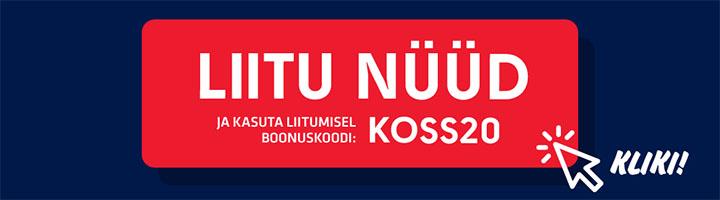 OlyBetis 20 eurot tasuta ennustusraha boonuskood KOSS20