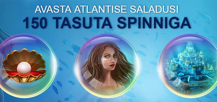 Optibet Kasiino secret of atlantis tasuta spinnid