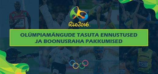 RIO 2016 olümpiamängude tasuta spordiennustused ja boonusraha pakkumised