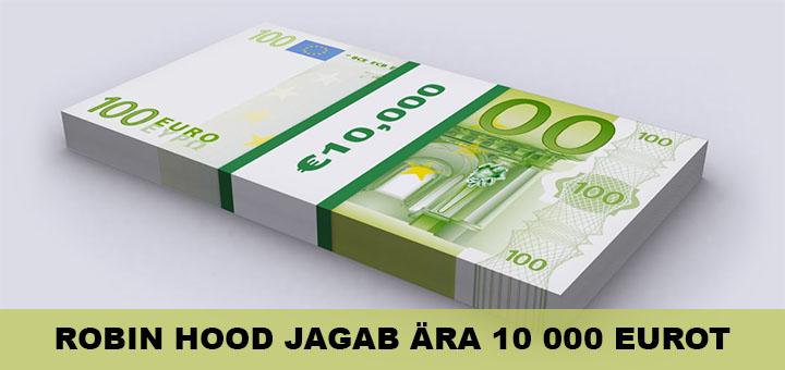 Robin Hood jagab Unibet kasiinos ära 10 000 eurot
