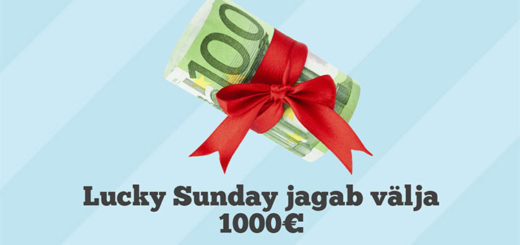 Paf Lucky Sunday 1000 euro loos