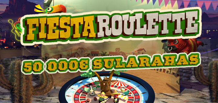 OlyBet Fiesta Rulett 50 000 euro loos