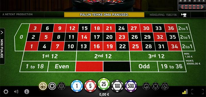 Chanz Live Casino Rulett