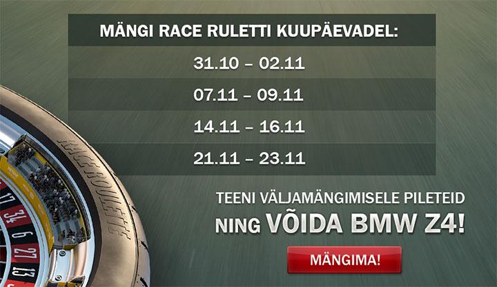 OlyBet Live Kasiino race rulett