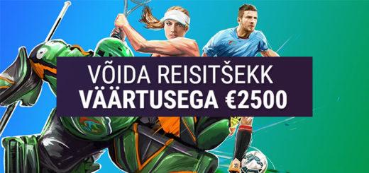 Coolbeti koefitsiendi võistlus - võida 2500-eurone reisitšekk