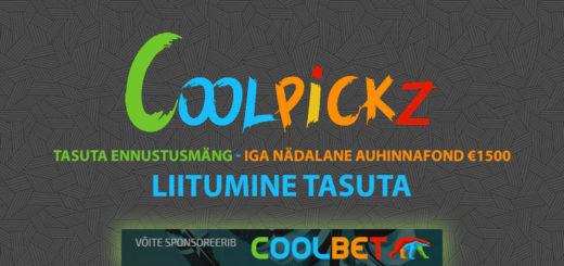 Coolpickz tasuta spordiennustusmäng - võida pärisraha