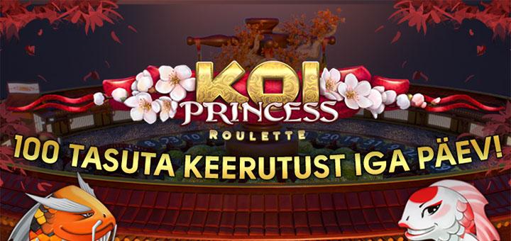 Koi Princess rulett - tasuta spinnid