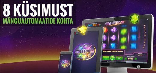 Coolbet Blogi - 8 küsimust ja vastust mänguautomaatide kohta