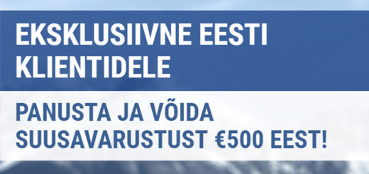 Coolbet spordiennustus - võida €500 eest suusavarustust