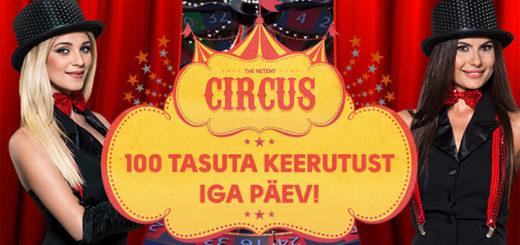 OlyBet Live Kasiino Circus Rulett ja tasuta spinnid