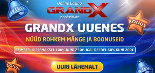 GrandX Online Casino - Eesti parim kasiino boonus