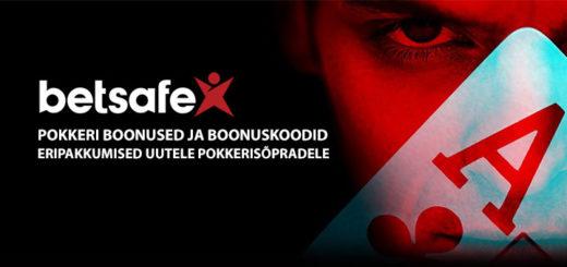 Betsafe Pokker - boonused ja boonuskoodid