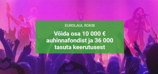 Eurovisioon 2017 Unibetis - kasiinoturniir ja tasuta spinnid