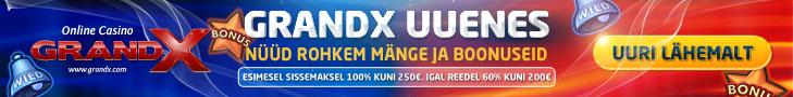 GrandX Online Casino - rohkem mänge ja boonuseid