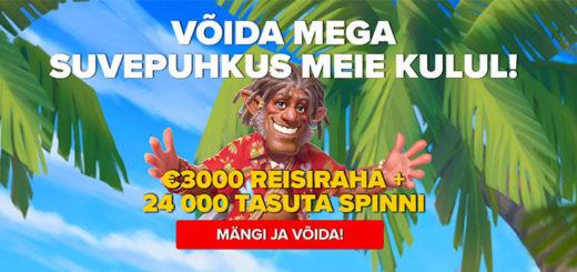Võida Optibet kasiinos reisiraha ja tasuta spinnid