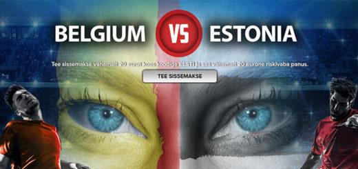 Belgia - Eesti MM-valikmängu riskivaba panus Optibetis