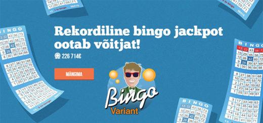 Paf Bingo Variant rekordiline jackpot