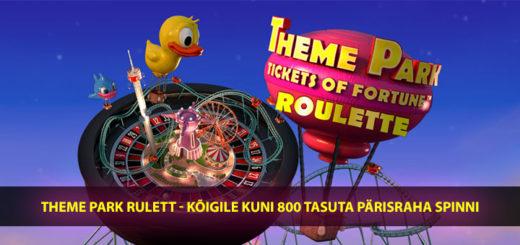 Theme Park Roulette Paf kasiinos - sind ootavad tasuta keerutused