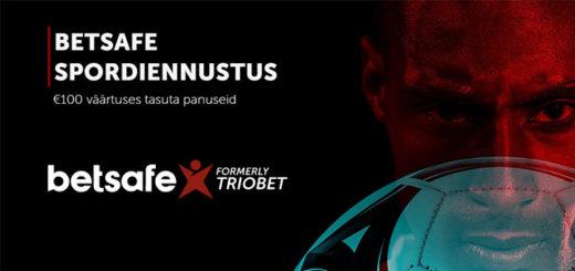 Betsafe spordiennustus - uutele ennustajatele €100 väärtuses tasuta panused + 20 tasuta spinni