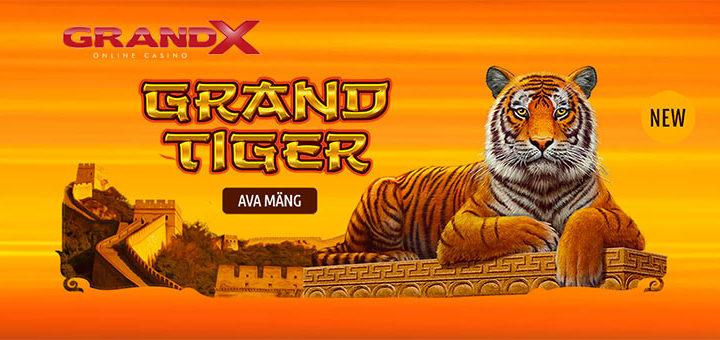 GrandX Online Casino uued mängud ja boonused