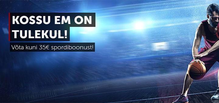 Korvpalli EM - Betsafe Eesti annab kuni €35 eest tasuta spordipanuseid