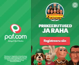Mänguportaal Paf Boonused - liitumisel koheselt tasuta spinnid ja €10 pärisraha