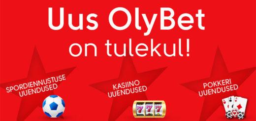 OlyBet kasiino, spordiennustus ja pokkeriportaal uueneb