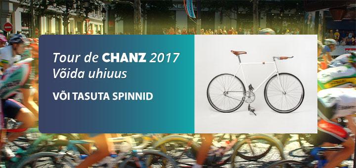 Tour De Chanz 2017 - võida €1000 jalgratas või tasuta spinnid