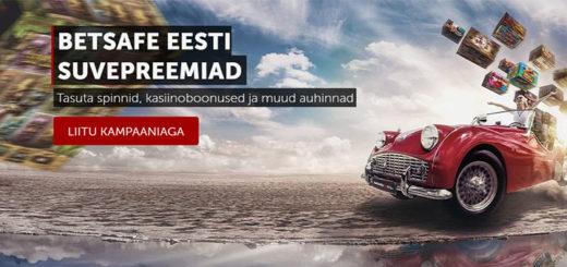Betsafe Eesti suveboonused - tasuta spinnid, boonused ja muud auhinnad