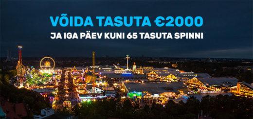 Chanz Casino megakampaania - tasuta €2000 loos ja tasuta spinnid