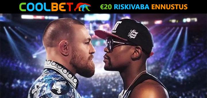 Conor McGregor vs Floyd Mayweather €20 riskivaba ennustus Coolbet spordiennustuses