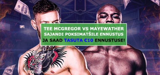 Conor McGregor vs Floyd Mayweather ennustus Unibetis - tasuta €10 panus