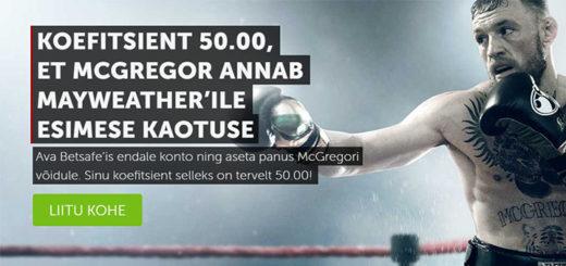 Conor McGregor vs Floyd Mayweather parim koefitsient Betsafe's