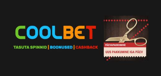 Coolbet kasiino päevapakkumised - tasuta spinnid, boonused ja cashback