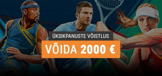 Coolbet spordiennustuse üksikpanuste võistlus - võida €2000