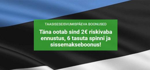 Eesti Taasiseseisvumispäeva boonused Unibet kasiinos