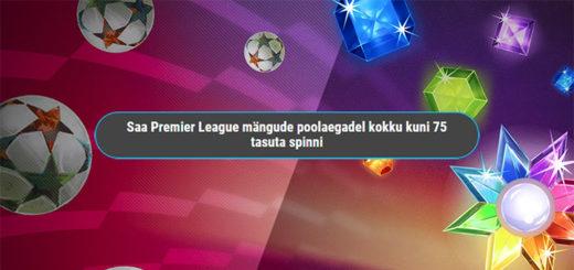 Inglise Premier League poolaegade tasuta spinnid Coolbetis