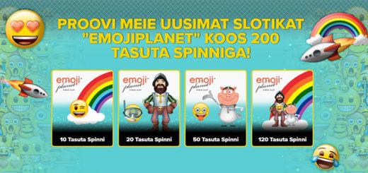 Optibet Eesti annab uues slotimängus Emojiplanet 200 tasuta spinni