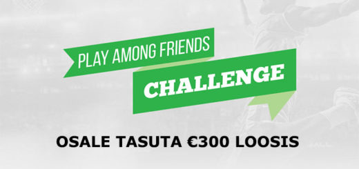 Play Among Friends Challenge - tasuta €300 loos