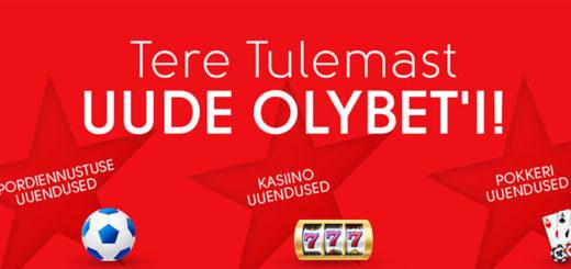 Uus Olybet - uuenenud kasiino, spordiennustus ja pokker