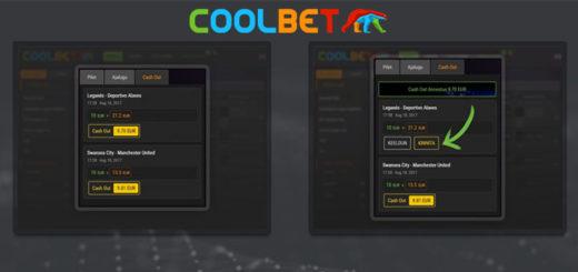 Coolbet spordiennustus - nüüdsest saadaval ka cashout funktsioon
