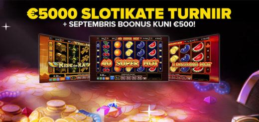 Optibet kasiinos uued EGT mängud, slotiturniir ja boonus kuni €500