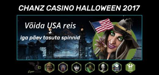Chanz Casino Halloween 2017 tasuta spinnid ja loos