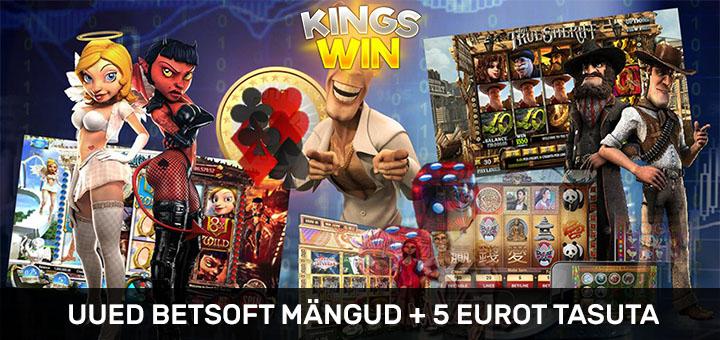 Kingswin kasiino Betsoft mängud ja 5 eurot tasuta