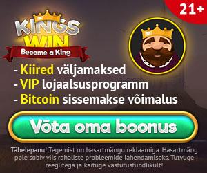 Kingswin kasiino boonused